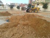 الانتهاء من ردم أثار تنفيذ مشروعات بأحياء العريش ..صور