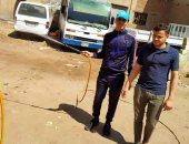 صور.. تطهير قرية ميت سهيل فى محافظة المنيا للوقاية من كورونا