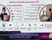 إنفوجراف.. 10 نصائح للعمل والدراسة من المنزل