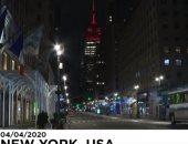 شاهد.. شوارع نيويورك خالية من البشر بسبب كورونا
