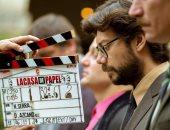 """""""البروفيسور"""" يعلن بدء تصوير الموسم الخامس من La Casa De Papel.. صورة"""