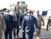 صفحة الرئيس تنشر صورا لتفقده الأطقم التابعة للقوات المسلحة لمعاونة القطاع المدنى لمكافحة كورونا