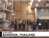 """تايلاند.. الروبوت """"بينتو"""" يساهم فى حماية الطواقم الطبية من فيروس كورونا"""