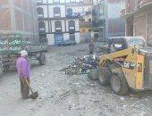 رفع 30 طن من مخلفات القمامة بمنطقة حى وسط الأقصر
