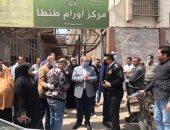 مدير أمن الغربية يتفقد مركز أورام طنطا ويوجه بتوزيع الكمامات على المرضى