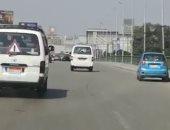 فيديو.. شاهد الحالة المرورية أعلى كوبرى أكتوبر من التحرير حتى المهندسين