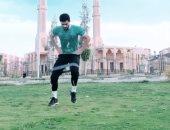 تدريبات قوية لأيمن أشرف للحفاظ على لياقته فى ظل توقف النشاط الرياضى