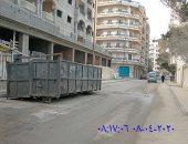 """استجابة لـ""""سيبها علينا"""".. رفع القمامة من شارع الهانوفيل بالاسكندرية"""