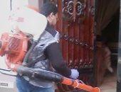 تطهير شوارع كفر بهوت فى الدقهلية للوقاية من فيروس كورونا