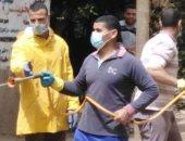 شباب يطلقون حملة لتعقيم وتطهير قرية كفر سندوة بشبين القناطر