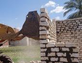 إزالة 18 حالة تعد بالبناء على الأراضى الزراعية فى بنى سويف.. صور
