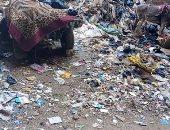 سيبها علينا.. انتشار القمامة بشارع أحمد ضيف بالمريوطية والأهالى يطالبون بحل