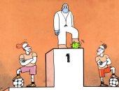 كاريكاتير صحيفة إماراتية.. الأطباء النجوم الحقيقيون في أزمة كورونا