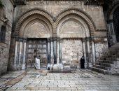 غلق أبواب كنيسة القيامة فى عيد الفصح لأول مرة منذ 100عام.. صور