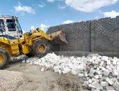 إزالة 1618 حالة تعد على الزراعات وضبط 241 مخالفة بناء ببنى سويف