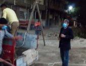 شباب قرية بنى عبيد بالدقهلية يعقمون الشوارع لمكافحة فيروس كورونا