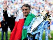 مانشيني: لقب الدوري الإنجليزي مع مان سيتى أهم إنجاز فى مسيرتي