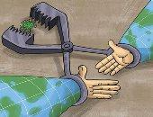 """كاريكاتير صحيفة إماراتية لـ""""العالم"""".. اتحدوا للقضاء على كورونا"""