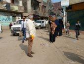 فض سوق الأحد بشبين القناطر بالقليوبية لمواجهة كورونا.. صور