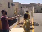 فحص وتعقيم عمال مشاريع النظافة فى السعودية قبل وبعد انتهاء عملهم.. فيديو