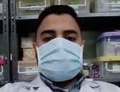 جيشنا الأبيض.. أشرف صيدلى على خط مواجهة كورونا بمستشفى الزهور فى بورسعيد