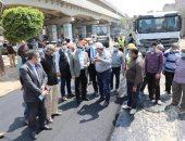 محافظ المنوفية يتفقد رصف شارعى حسنى مبارك ومصطفى كامل ..صور