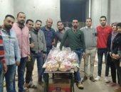 شباب الخير بشبرا الخيمة يوزعون الخضروات علي أسر العمالة المؤقتة
