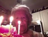 جدة تحتفل بعيد ميلادها بمفردها بسبب كورونا  تحصد 9 ملايين مشاهدة.. فيديو