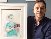 فنان بريطانى يعبر عن حالة الامتتنان والدعم للأطباء فى لوحة.. شاهدها