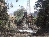 صورة ..قارئ يرصد إلقاء مياه الصرف الصحى بترعة المسلمية بالزقازيق