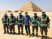 وزارة الآثار تعقم منطقة سقارة الأثرية ضد فيروس كورونا