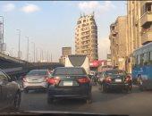 النشرة المرورية.. كثافات مرتفعة على محاور القاهرة والجيزة