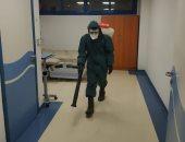 """صور.. تعقيم مستشفى شرم الشيخ وقاعة المؤتمرات للوقاية من """"كورونا"""""""