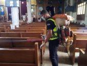 صور.. شباب أندية التطوع بمراكز شباب الأقصر يطلقون حملات تعقيم للمنشآت الدينية والحكومية