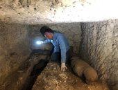 صور جديدة من الاكتشاف الأثرى بموقع جبانة الطيور المقدسة فى منطقة سقارة