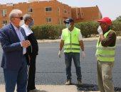 محافظ جنوب سيناء يشيد بالتزام عمال المشروعات بالإجراءات الوقائية ضد كورونا