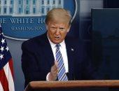 ترامب يغادر مؤتمره الصحفى بشكل مفاجئ وسط حديثه دون سبب واضح ..فيديو
