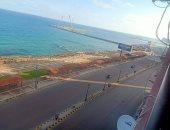 غلق طريق الكورنيش بالإسكندرية وتشديدات أمنية على الطرق.. صور