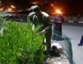 صور.. رئيس مدينة القرنة يوجه بمواصلة حملات النظافة ليلاً استغلالا للحظر