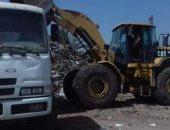 صور.. رفع 235 طن قمامة ومخلفات صلبة خلال فترات الحظر بسمالوط فى المنيا