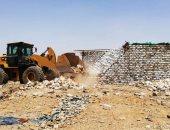 إزالة 371 حالة تعد على الأراضى الزراعية بأسوان وجنوب سيناء.. صور