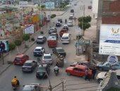 امسك مخالفة.. تكدس وزحام فى منطقة الاستاد بمدينة طنطا بالغربية