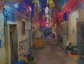 بهجة رمضان.. قارئ يشارك بصور لتزيين شارع بمنطقة غبريال بالإسكندرية