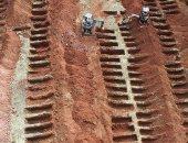 شاهد.. مقابر البرازيل  تستعد لدفن ضحايا كورونا بعد تجاوز الـ1000 وفاة يوميا