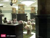 شاهد صلاة التراويح من الحرم المكى بحضور عدد قليل من المصلين