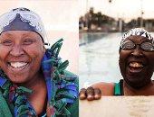 """مافيش مستحيل.. """"السباحة"""" تنقذ أمريكية فى السبعين من عمرها من الموت.. فيفيان ستانسيل """"كفيفة"""" تعلمت """"العوم"""" بعمر الـ50 بعد تدهور حالتها الصحية.. السبّاحة العجوز حصلت على عشرات الميداليات.. ودشنت مؤسسة لكبار السن"""