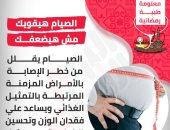 """معلومة طبية رمضانية.. الصيام هيقويك مش هيضعفك """"إنفو جراف"""""""