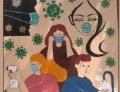 عمر السجن ما يقتل مبدع..سجين بالهند يرسم على جدارن سجنه كيفية مواجهة كورونا