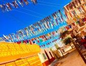 """مرحب شهر الصوم.. """"حمتو"""" يشارك تزيين شوارع النوبة ابتهاجا برمضان"""