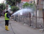 """""""مياه القليوبية"""" تطهر شوارع القناطر الخيرية للحد من انتشار كورونا"""